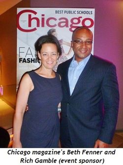 Blog 2 - Chicago Magazine's Beth Fenner and Rich Gamble (event sponsor)