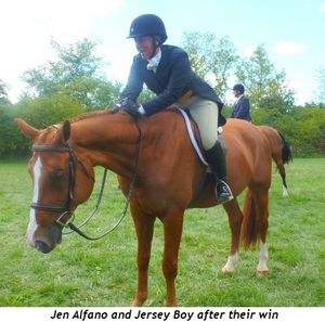 Blog 6 - Jen Alfano and Jersey Boy after their win