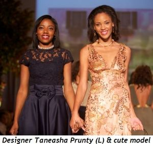 Blog 3 - Designer Taneasha Prunty (L) and cute model