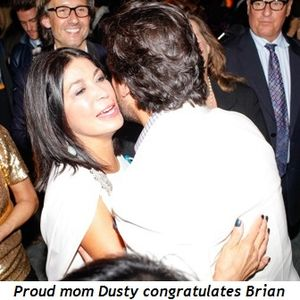 Blog 2 - Proud mom Dusty congratulates Brian