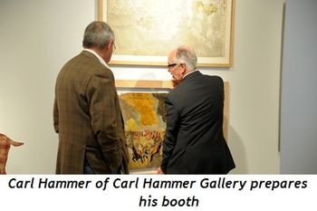Blog 4 - Carl Hammer of Carl Hammer Gallery prepares his booth