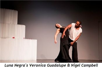 Blog 4 - Luna Negra dancers Veronica Guadalupe and Nigel Campbell