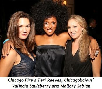 Blog 1 - Chicago Fire's Teri Reeves, Chicagolicious's Valincia Saulsberry, and Mallory Sabian