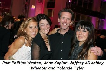 Blog 7 - Pam Phillips Weston, Anne Kaplan, Ashley Wheater (Joffrey Artistic Director) and Yolanda Tyler