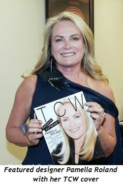 Blog 11 - Featured designer Pamella Roland with her TCW Mag cover