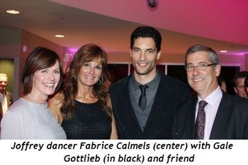 Blog 18 - Joffrey dancer Fabrice Calmels (center), Gale Gottlieb (L) and friends