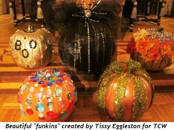 "Beautiful ""funkins"" created by Tissy Eggleston for TCW Mag Party"