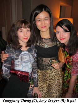 Blog 4 - Yangyang Cheng (center), Amy Creyer and friend