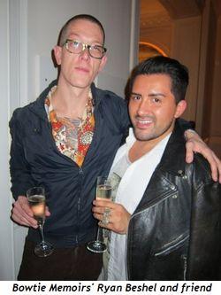 Blog 6 - Bowtie Memoir's Ryan Beshel and friend