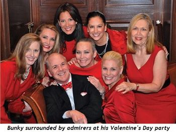Blog 1 - Bunky Cushing surrounded by admirers at his Valentine's Day Party
