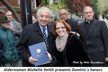 Blog 5 - Alderwoman Michelle Smith presents Dominic's honors