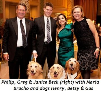 Blog 9 - Philip, Greg & Janice Beck (right) with Maria Bracho and dogs Henry, Betsy & Gus