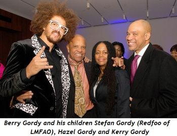 Blog 1 - Berry Gordy and his children Stefan Gordy (Redfoo of LMFAO), Hazel Gordy and Kerry Gordy