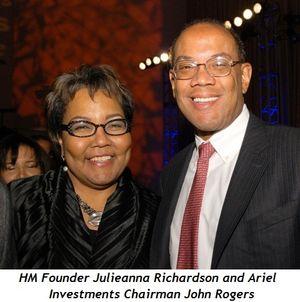 Blog 3 - Julieanna Richardson (HM founder), and John Rogers (Chairman Ariel Investments)