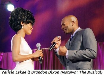 Blog 8 - Valisia Lekae and Brandon Dixon (cast of Motown the Musican)