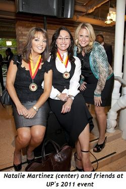 Blog 3 - Natalie Martinez (center) and friends at UP's 2011 event