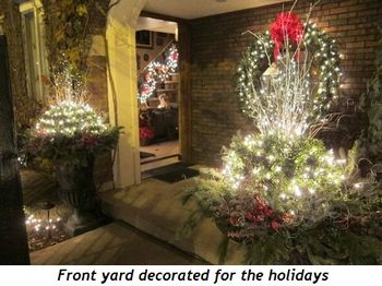 Blog 2 - Front yard decorated for the holidays