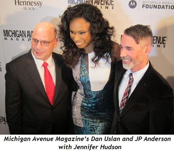 1 - Mich Ave Mag's Dan Uslan and JP Anderson with Jennifer Hudson