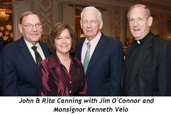 1 - John and Rita Canning with Jim O'Connor and Monsignor Kenneth Velo