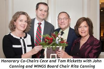 2 - Honorary Co-Chairs Cece and Tom Ricketts with John Canning and WINGS Board Chair Rita Canning
