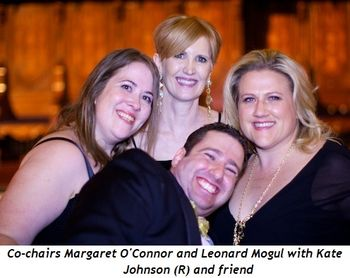3 - Co-chairs Margaret O'Connor and Leonard Mogul with friends