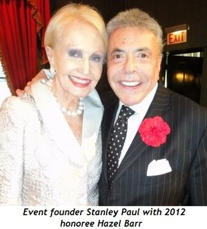 2 - Event founder Stanley Paul with Hazel Barr, 2012 Honoree
