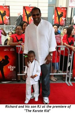 5 - Richard and his son RJ at the premiere of The Karate Kid