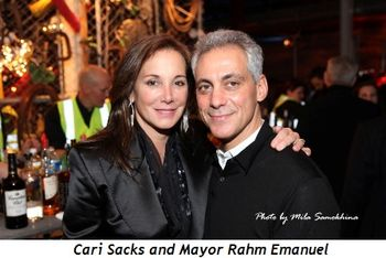 6 - Cari Sacks and Mayor Rahm Emanuel