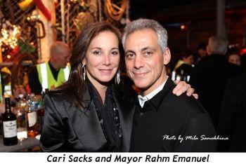 6 - Cari Sacks and Mayor Rahm Emanuel