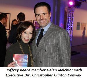 4 - Joffrey Board member Helen Melchior with Executive Dir. Christopher Clinton Conway