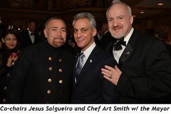 1 - Gala co-chairs Jesus Salgueiro and Chef Art Smith with the Mayor
