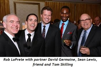 5 - Rob LoPrete with partner David Germaine, Sean Lewis, friend and Tom Skilling