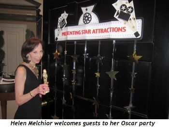 1 - Helen Melchior welcomes guests to her Oscar party
