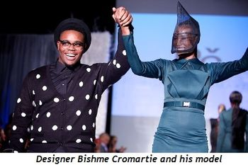 7 - Designer Bishme Cromartie and his model