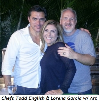 2 - Chef Todd English, Art and Lorena Garcia