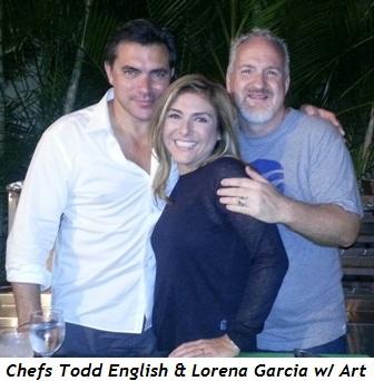 2 - Chef Todd English, Art and Lorena Garcia