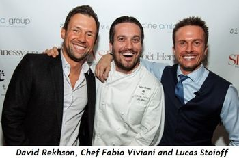 David Rekhson, Chef Fabio Viviani and Lucas Stoioff