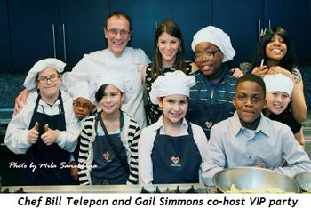 2 - Chef Bill Telepan and Gail Simmons co-host VIP party