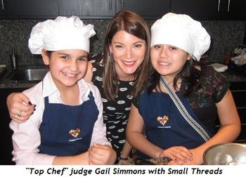 8 - Top Chef judge Gail Simmons with Small Threads
