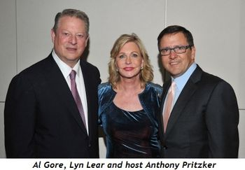 1 - Al Gore, Lyn Lear and host Anthony Pritzker
