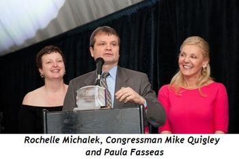 2 - Rochelle Michalek, Congressman Mike Quigley, Paula Fasseas