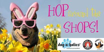 Dog event Hop Around Shops