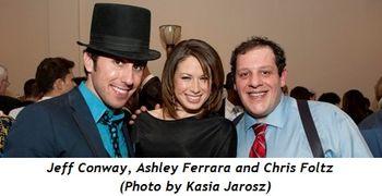 2 - Jeff Conway, Ashley Ferrara, Chris Foltz (Kasia Jarosz photo)