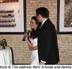 8 - Kyla and Tim address their friends and family