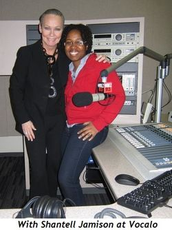 With Shantell Jamison at Vocalo