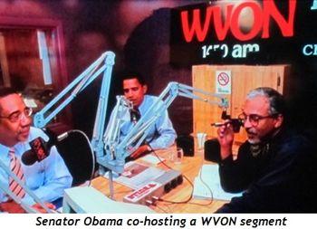 12 - Senator Obama co-hosting a WVON segment