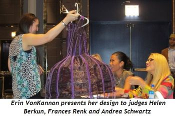 5 - Erin VonKannon presents her design to judges Helen Berkun, Frances Renk and Andrea Schwartz