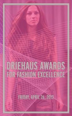 Driehaus Awards show invite