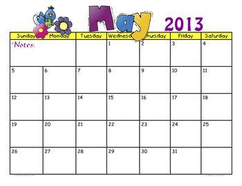 CalendarMay2013byjudybonzer