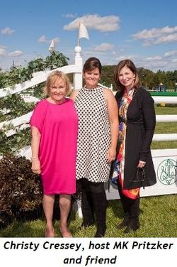 Blog 1 - Christy Cressey, host MK Pritzker and friend